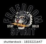 tiger with lightning... | Shutterstock .eps vector #1833221647