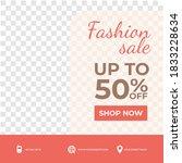 creative fashion sale promo... | Shutterstock .eps vector #1833228634