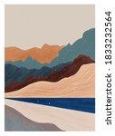mid century modern minimalist... | Shutterstock .eps vector #1833232564