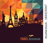 travel and tourism background | Shutterstock .eps vector #183325067