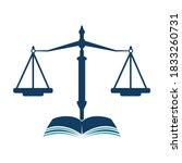 law education logo design.... | Shutterstock .eps vector #1833260731