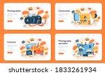 photographer web banner or... | Shutterstock .eps vector #1833261934