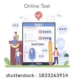 rhetoric class online service...   Shutterstock .eps vector #1833263914