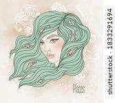 zodiac  illustration of pisces...   Shutterstock .eps vector #1833291694
