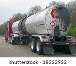 big fuel gas tanker truck on... | Shutterstock . vector #18332932