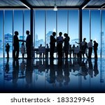 business people working in... | Shutterstock . vector #183329945