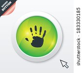 hand print sign icon. stop...