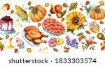 seamless horizontal food... | Shutterstock . vector #1833303574