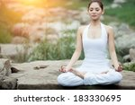 asia yoga instructor  in... | Shutterstock . vector #183330695