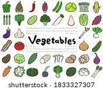 vegetable set  hand drawn...   Shutterstock .eps vector #1833327307