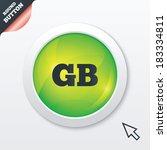 british language sign icon. gb...