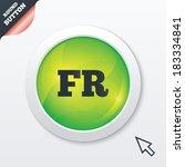 french language sign icon. fr...