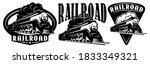 Retro Locomotive. A Set Of...
