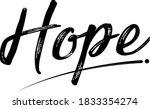 hope typography vector design... | Shutterstock .eps vector #1833354274
