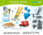 Shadow Game For Kids. Match The ...