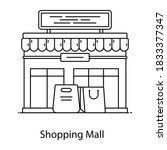 shopping mall icon in line... | Shutterstock .eps vector #1833377347