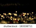 city lights abstraction. vector ... | Shutterstock .eps vector #183338711