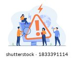 tiny people examining operating ... | Shutterstock .eps vector #1833391114