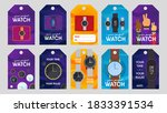 watches retail tags design set. ... | Shutterstock .eps vector #1833391534