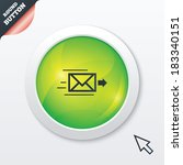 mail delivery icon. envelope...