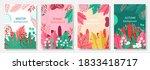 vector set four seasons  winter ... | Shutterstock .eps vector #1833418717