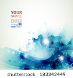 blue watercolor stains abstract ... | Shutterstock .eps vector #183342449