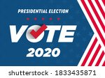 2020 presidential election.... | Shutterstock .eps vector #1833435871