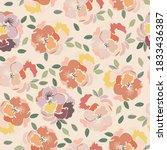 Seamless Floral Print Floral...