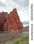 The Lake And Canyon Red Cliffs...