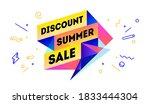discount summer sale. 3d sale... | Shutterstock .eps vector #1833444304