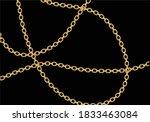 Golden Chain Design Hand Drawn...
