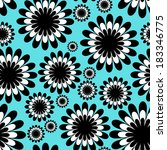 abstract monochrome floral... | Shutterstock .eps vector #183346775