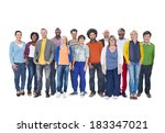 group of multi ethnic diverse... | Shutterstock . vector #183347021