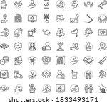 thin outline vector icon set... | Shutterstock .eps vector #1833493171