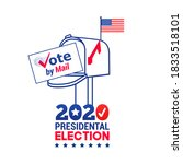 us 2020 presidential election... | Shutterstock .eps vector #1833518101