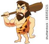 vector of a caveman