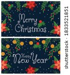 party flyers for merry... | Shutterstock .eps vector #1833521851