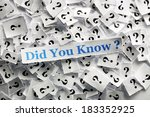 did you know  question marks on ... | Shutterstock . vector #183352925