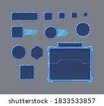 pixel art game ui set. set of...