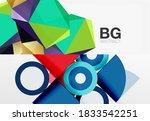set of modern geometric shapes... | Shutterstock .eps vector #1833542251