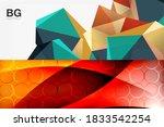 set of modern geometric shapes... | Shutterstock .eps vector #1833542254