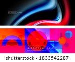 set of modern geometric shapes... | Shutterstock .eps vector #1833542287