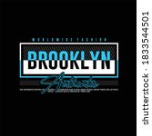 brooklyn authentic simple... | Shutterstock .eps vector #1833544501