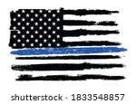 a textured police thin blue... | Shutterstock . vector #1833548857