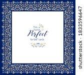 vector blue frame  vignette ... | Shutterstock .eps vector #1833596647