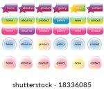 web navigation templates banner ... | Shutterstock . vector #18336085