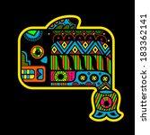 fish. flyuro image of the maya. ... | Shutterstock .eps vector #183362141