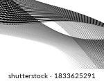swirled stripes twist vector... | Shutterstock .eps vector #1833625291