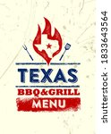 texas restaurant grill and bbq... | Shutterstock .eps vector #1833643564
