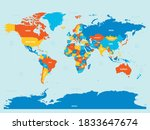 world map   4 bright color... | Shutterstock .eps vector #1833647674
